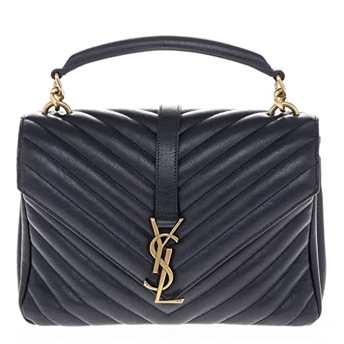 3eb3c1556783 Saint Laurent Women's Medium Monogram 'College' Matelasse Shoulder Bag with  Chain Strap Navy: Amazon.ca: Shoes & Handbags