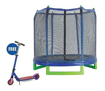 Amazon.com: Trampolín exterior para adultos de 7 pies, 16 ...