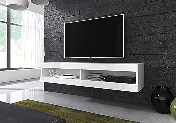 Floating TV Unit Cabinet Stand Volant 150 cm: Amazon.co.uk ...