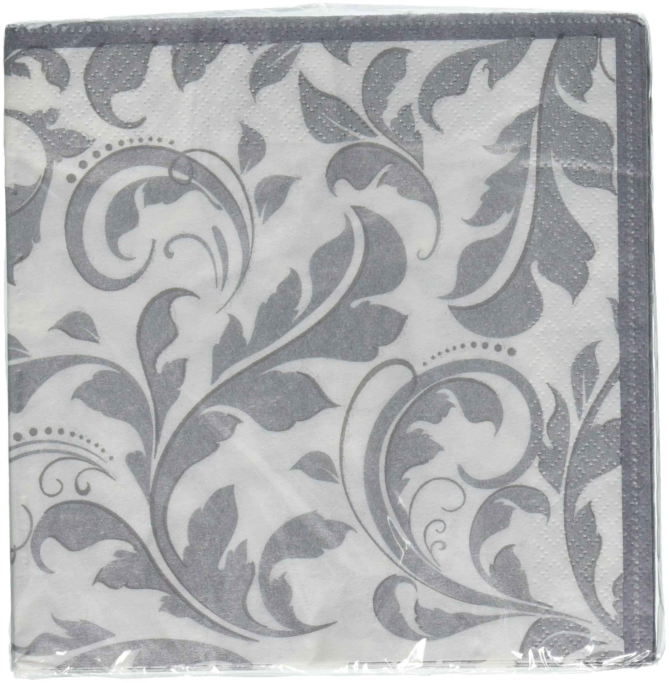 Silver Wedding Lunch Napkins   Wedding and Engagement Party, 192 Ct.