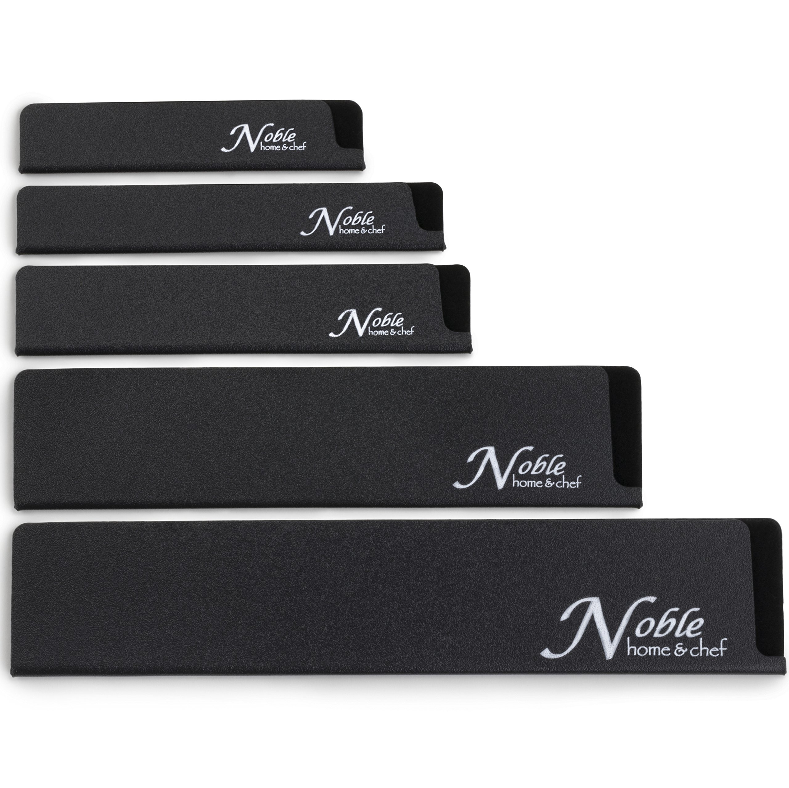 5-Piece Universal Knife Edge Guards are More Durable, BPA-Free, Gentle on Your Blades, and Long-Lasting. Noble Home & Chef Knife Covers Are Non-Toxic and Abrasion Resistant! (Knives Not Included) by Noble Home & Chef