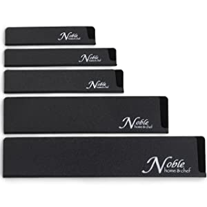 5-Piece Universal Knife Edge Guards are More Durable, BPA-Free, Gentle on Your Blades, and Long-Lasting. Noble Home & Chef Knife Covers Are Non-Toxic and Abrasion Resistant! (Knives Not Included)