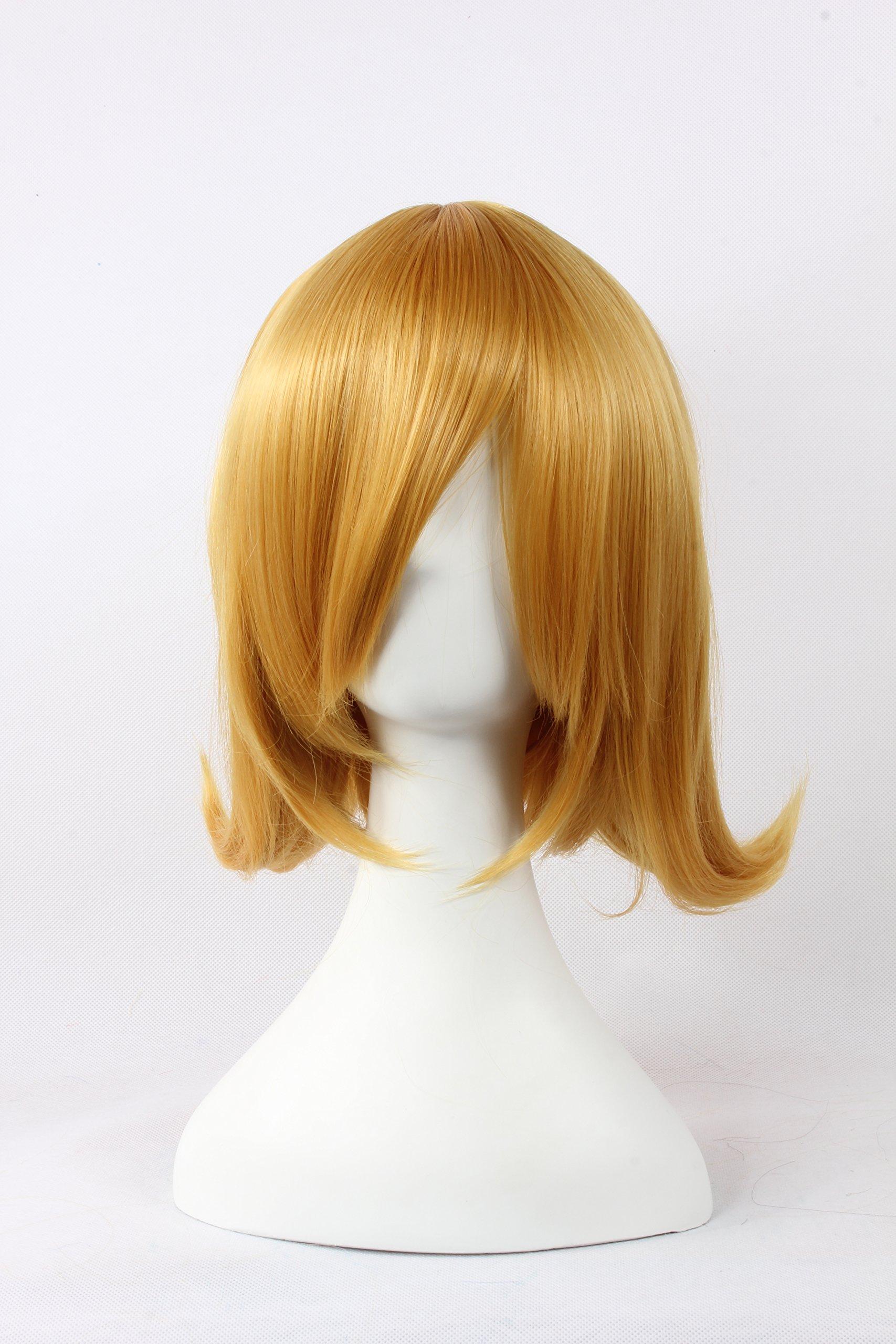 Coolsky Wigs Vocaloid Series Mix Golden Medium Hair Cosplay Wig