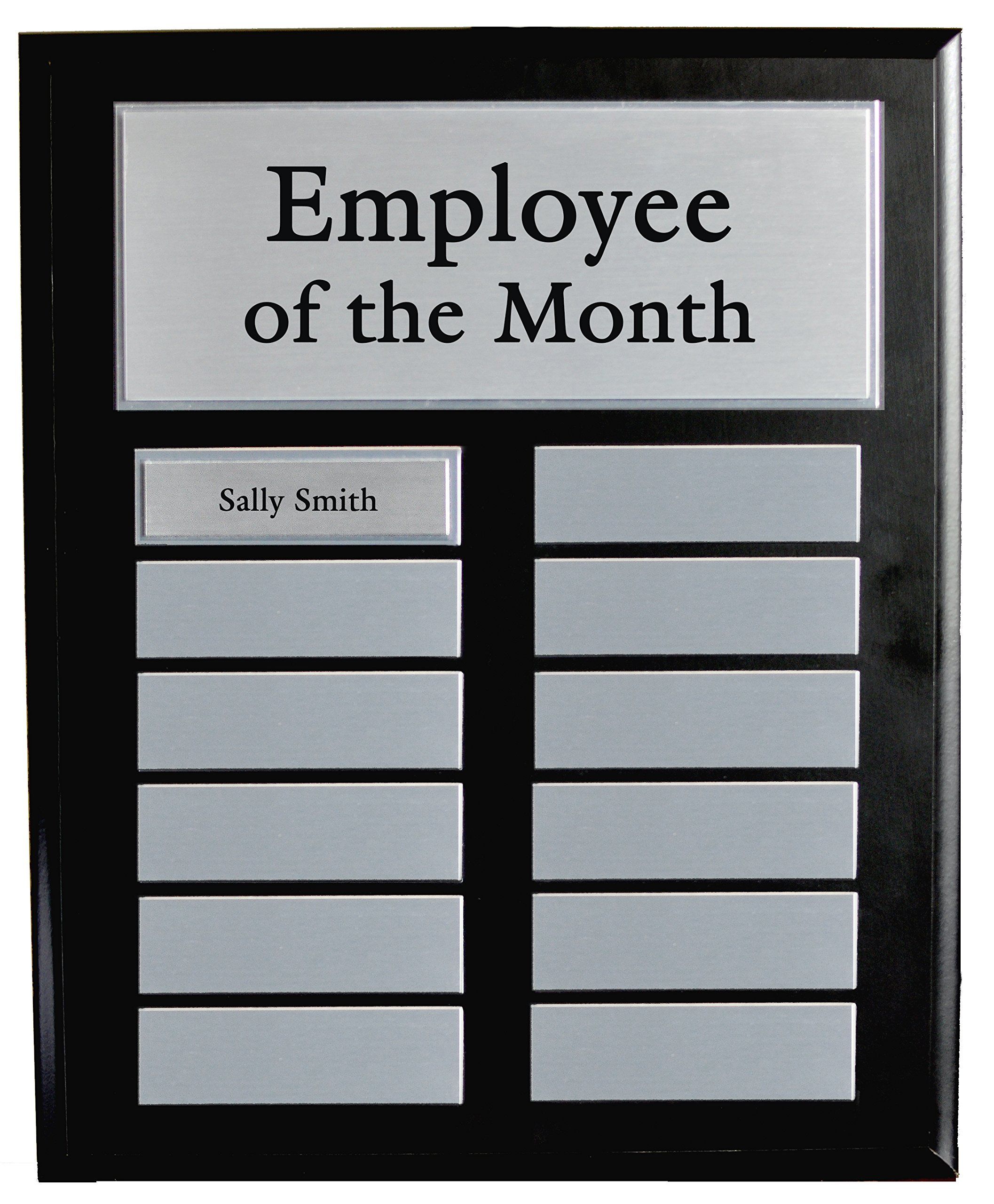 Employee of the Month Award - Perpetual Employee of the Month Plaque - 11'' x 13'' (Plague) by Holmes Stamp & Sign