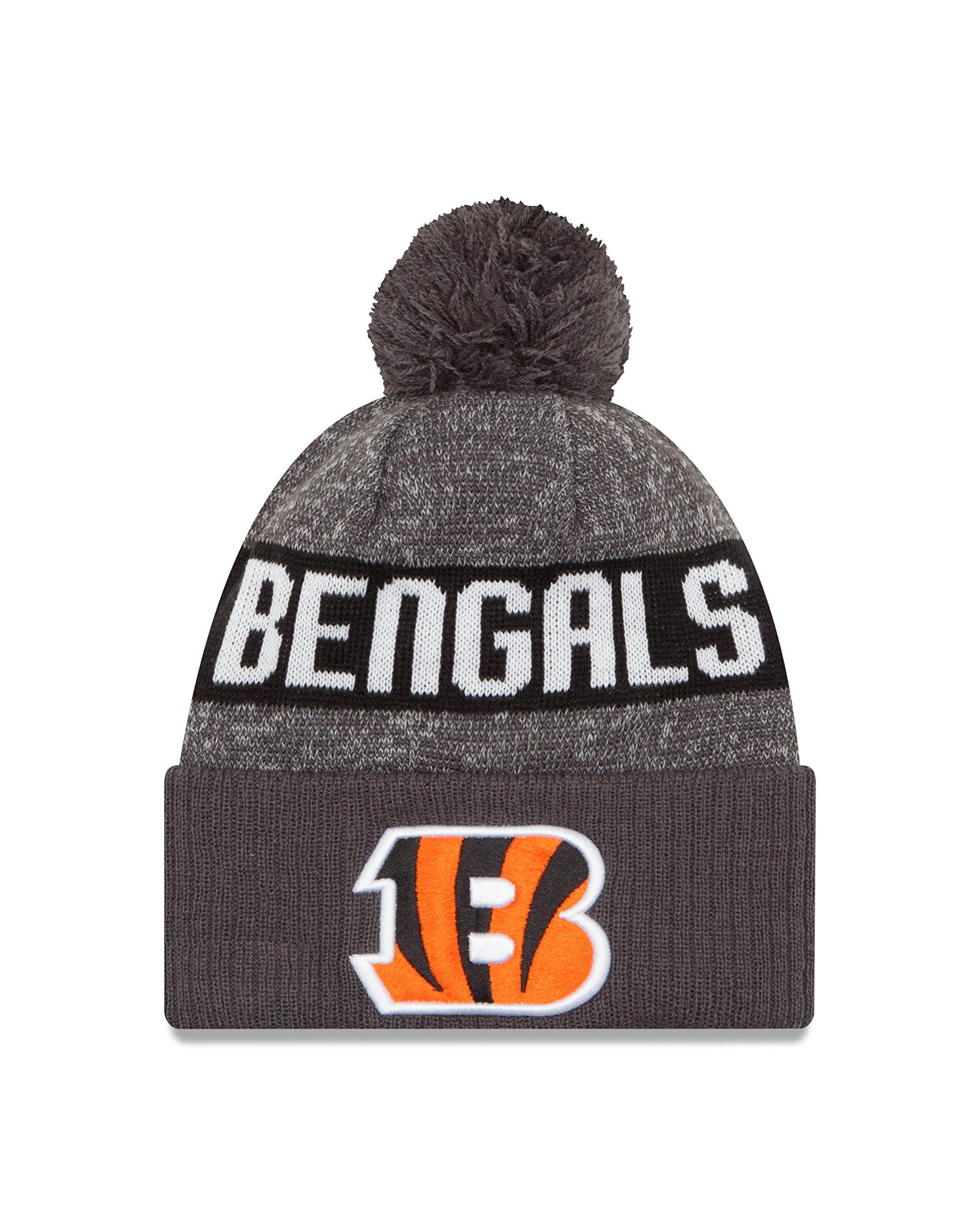 New Era NFL Cincinnati Bengals 2016 Sport Knit Beanie, One Size, Graphite
