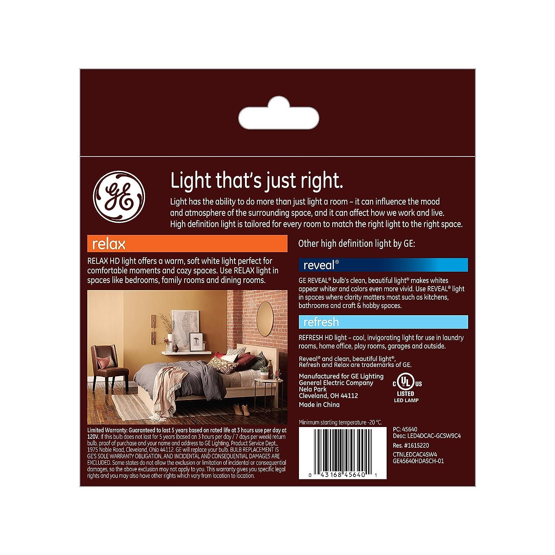 ge lighting 45640 refresh hd led 40 watt replacement 300 lumen