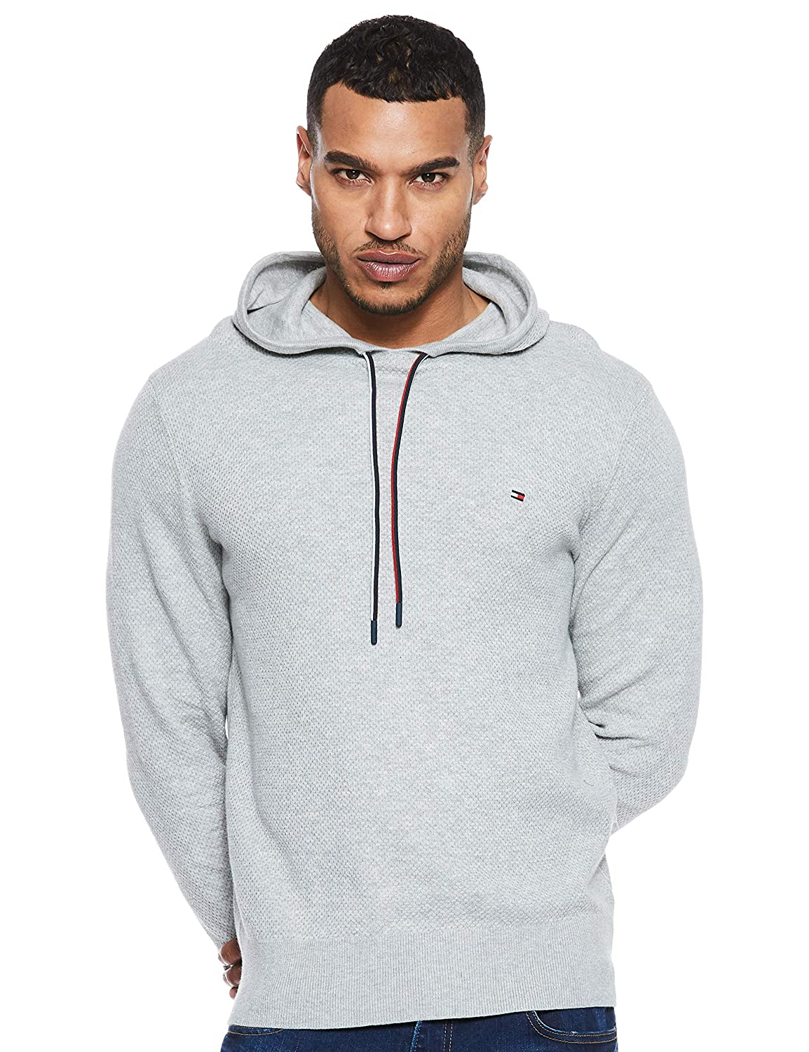 Tommy Hilfiger Cotton Mesh Structured Hoody, Capucha para Hombre