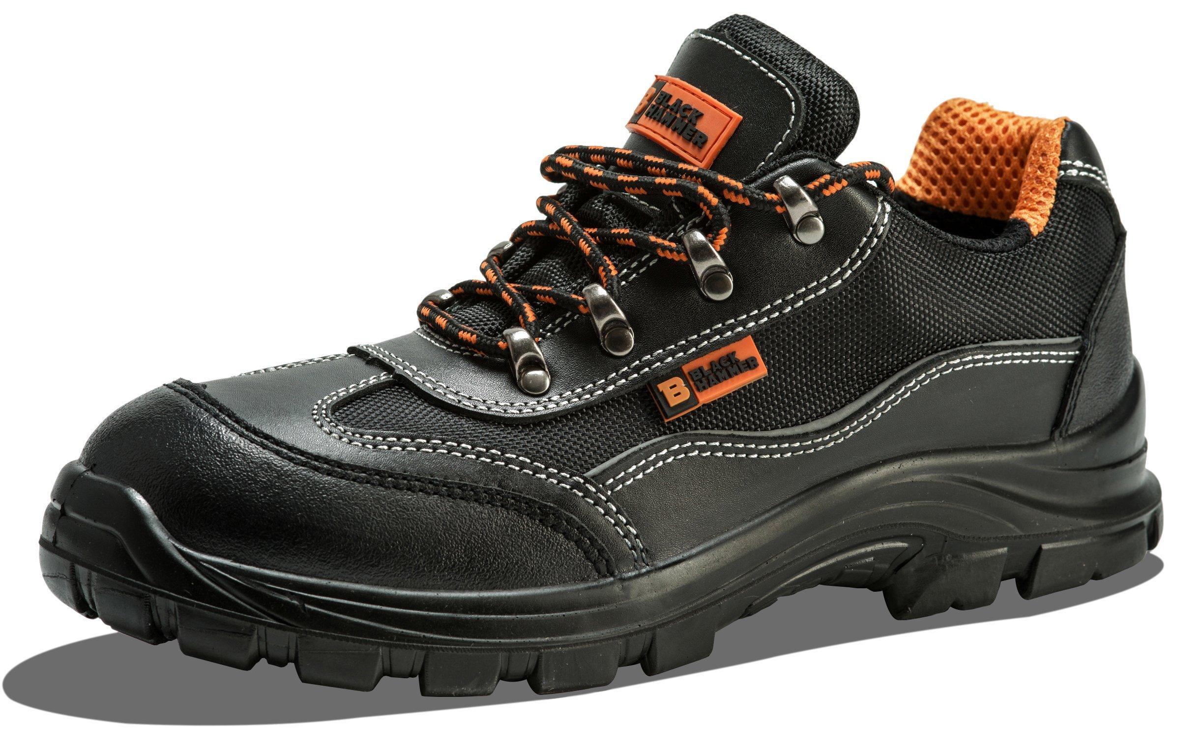 Black Hammer Scarponcini Antinfortunistici da Uomo con Puntale in Acciaio Scarpe  da Lavoro e Trekking con 4a737df7701