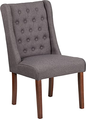 Flash Furniture HERCULES Preston Series Gray Fabric Tufted Parsons Chair