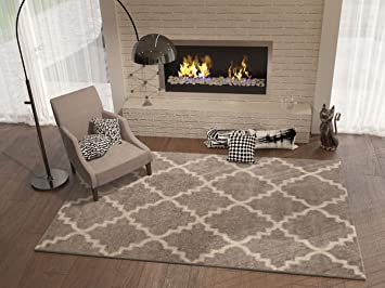 Grey Silver 5x8 53quot X 73quot Area Rug
