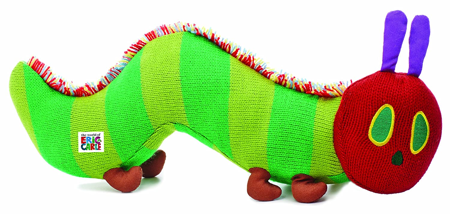 World of Eric Carle, The Very Hungry Caterpillar Knit Bean Bag Toy by Kids Preferred