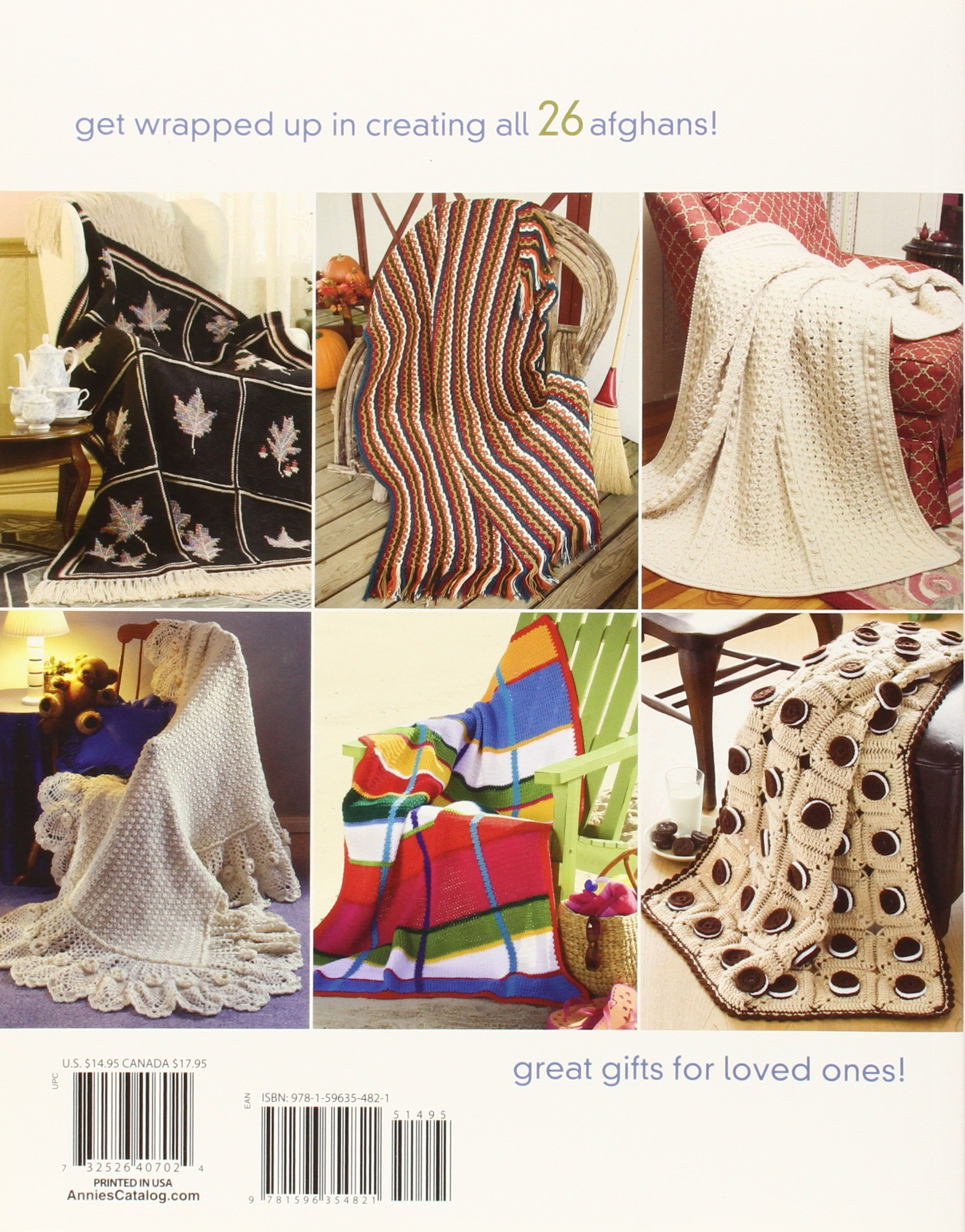 Big Book Of Crocheted Afghans  Pattern Book  Annie/'s