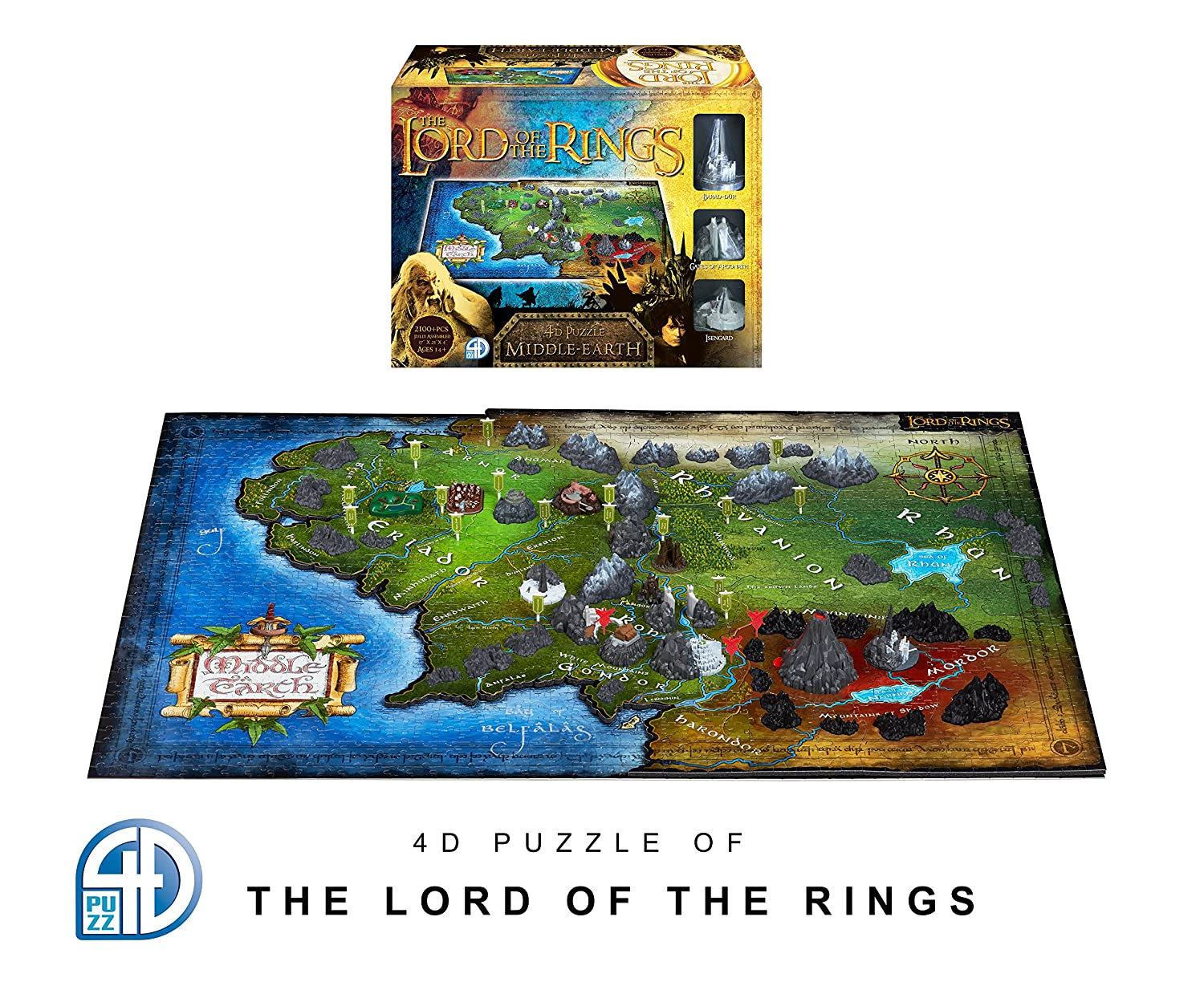 4D Cityscape Lord of the Ring Middle Earth Time Puzzle (1390 Piece) – LOTR