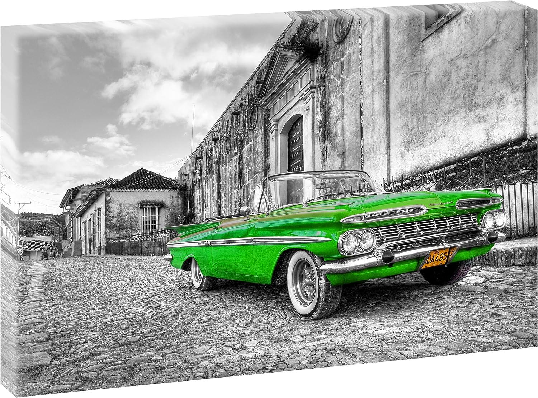 CJJCILEF 5 gemeinsame Malerei 3D HD Druck Leinwand Fahrzeuge Chevrolet anpassbar 100x50cm Rahmenlos