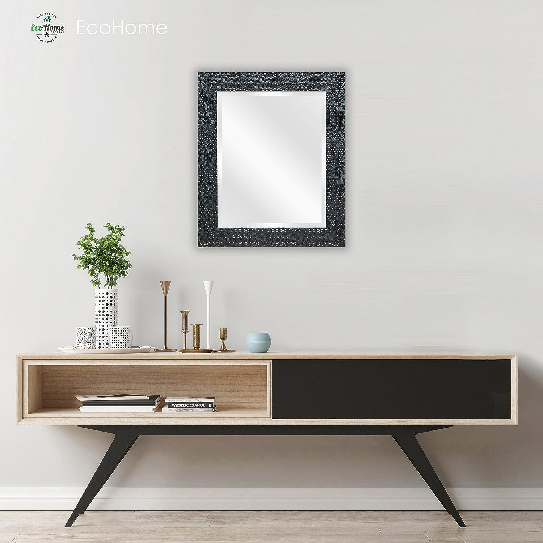 bba42e6d8176 Wall Beveled Mirror Framed - Bedroom or Bathroom Rectangular frame Hangs  Horizontal    Vertical By EcoHome ...