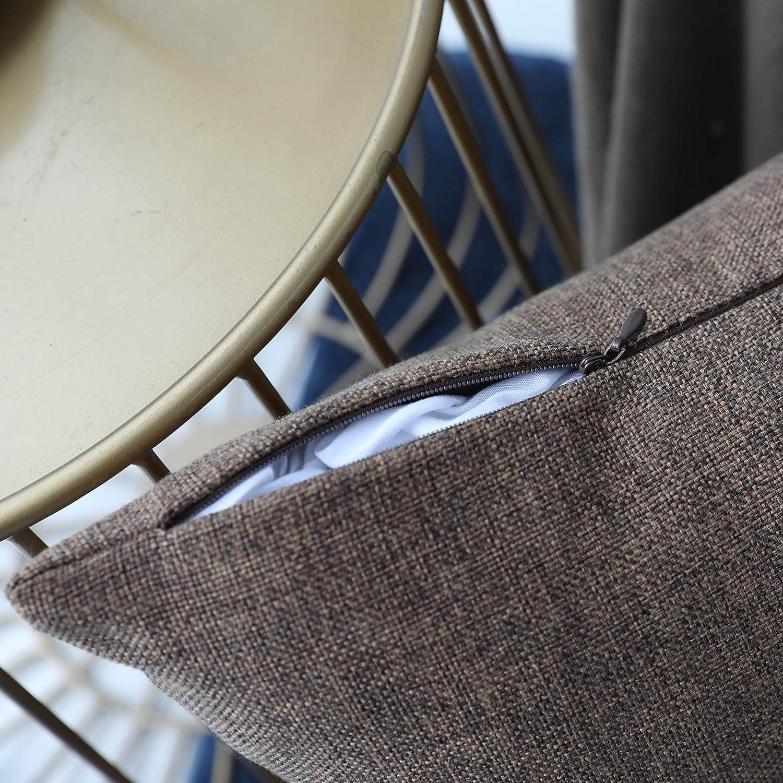 18x18 Funda de coj/ín de Lino Supersuave Tela Natural Linen Home Brilliant