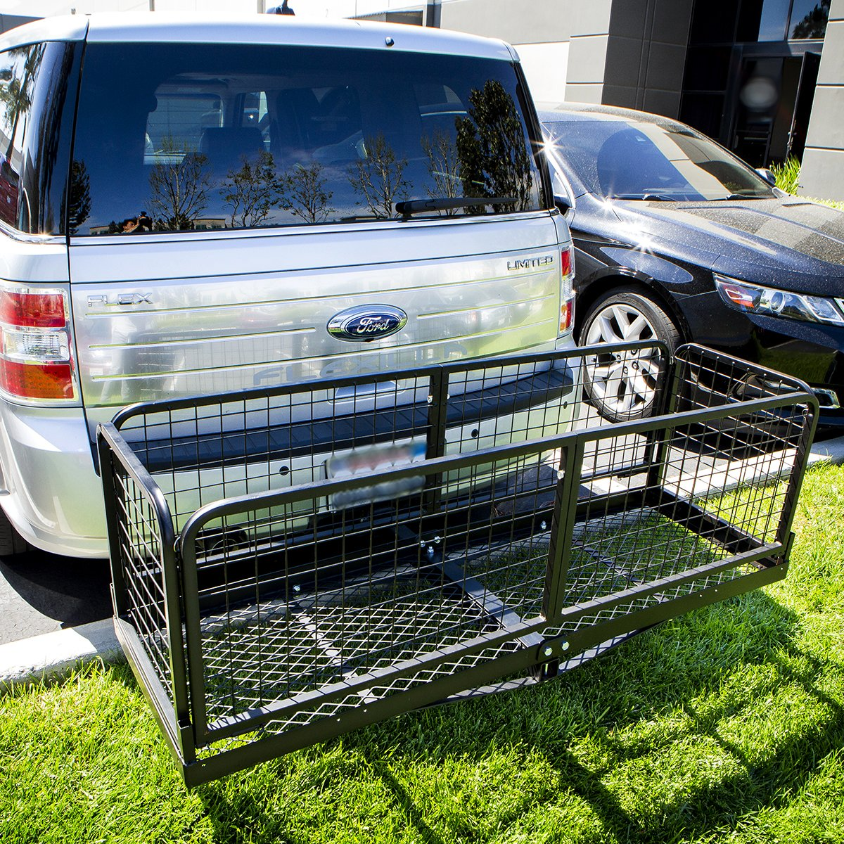 STKUSA Hitch Cargo Carrier with Basket Capacity 500 Lbs 2' Receivers