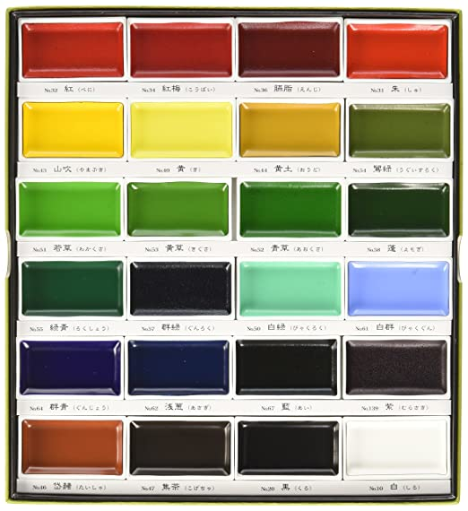 Zig Kuretake Gansai Tambi 24-Color Painting Set