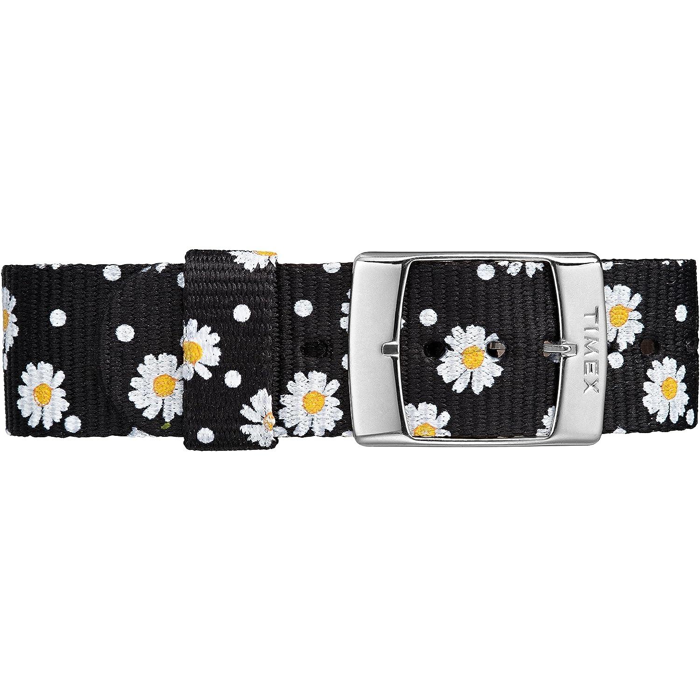 b93d0dcb9b5 Amazon.com  Timex Women s TW2R24100 Weekender Black Floral Reversible Nylon  Slip-Thru Strap Watch  Timex  Watches
