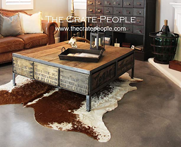 The 48 ZORIA Farms Coffee Table   Reclaimed Furniture Using Vintage Wood  Crates U0026 Barn Wood