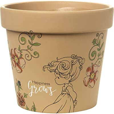 Precious Moments Terra Cotta Happiness Grows Medium Pot: Home & Kitchen