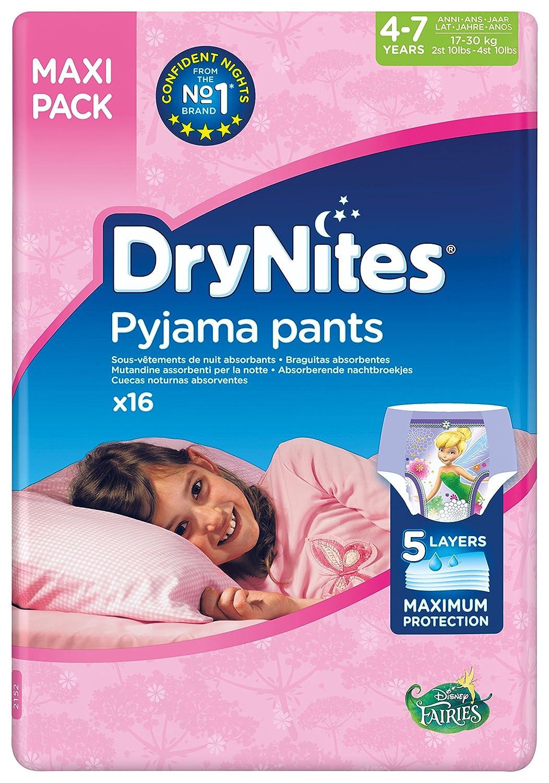 Huggies DryNites hochabsorbierende Pyjamahosen Unterhosen für Mädchen Jumbo Monatspackung, 52 Stück (8-15 Jahre) 52 Stück (8-15 Jahre) Dry Nites 2154_case