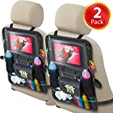 2 Pack Backseat Car Organizer for Kids, Babies and Toddlers, with Tablet Holder by iPad Touch Screen, Fit to Baby Stroller, Large Storage, Kick Mat, Back Seat Protector, Organizer eBook by Cartik