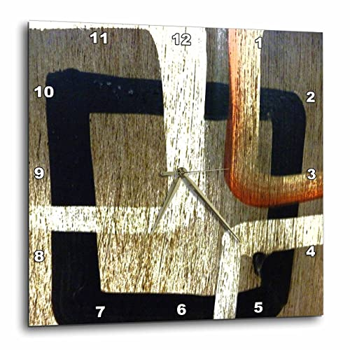 3dRose LLC Squares Rule 10 by 10-Inch Wall Clock