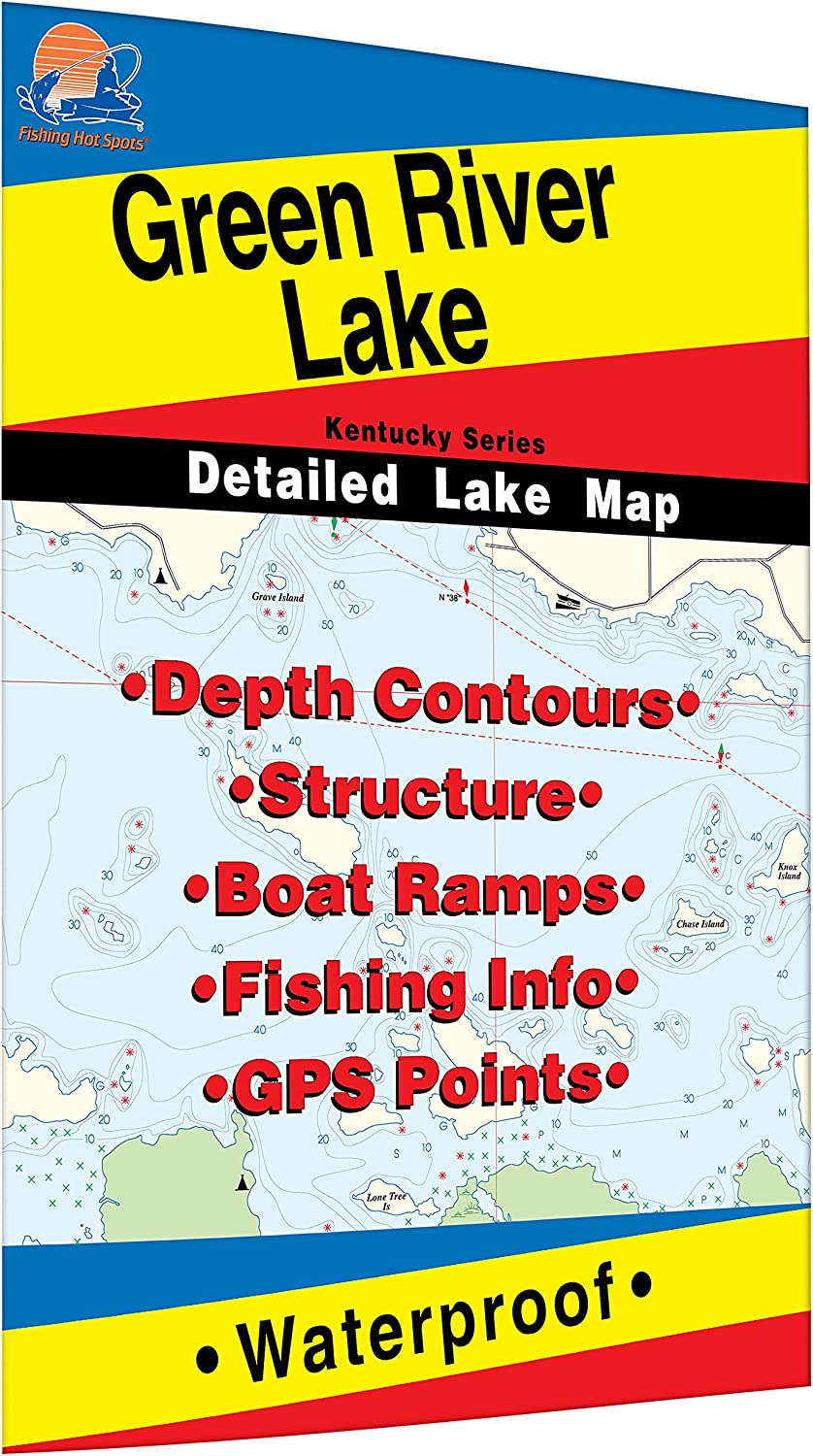 Amazon.com : Green River Lake Fishing Map : Sports & Outdoors