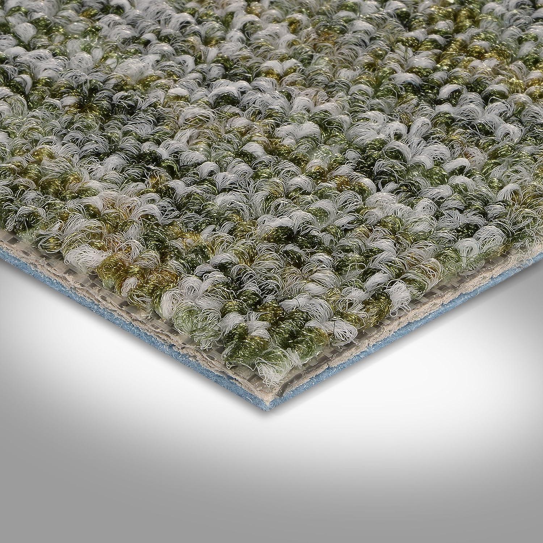 300 verschiedene L/ängen 400 und 500 cm breit Teppichboden Auslegware Meterware Schlinge meliert gr/ün 200