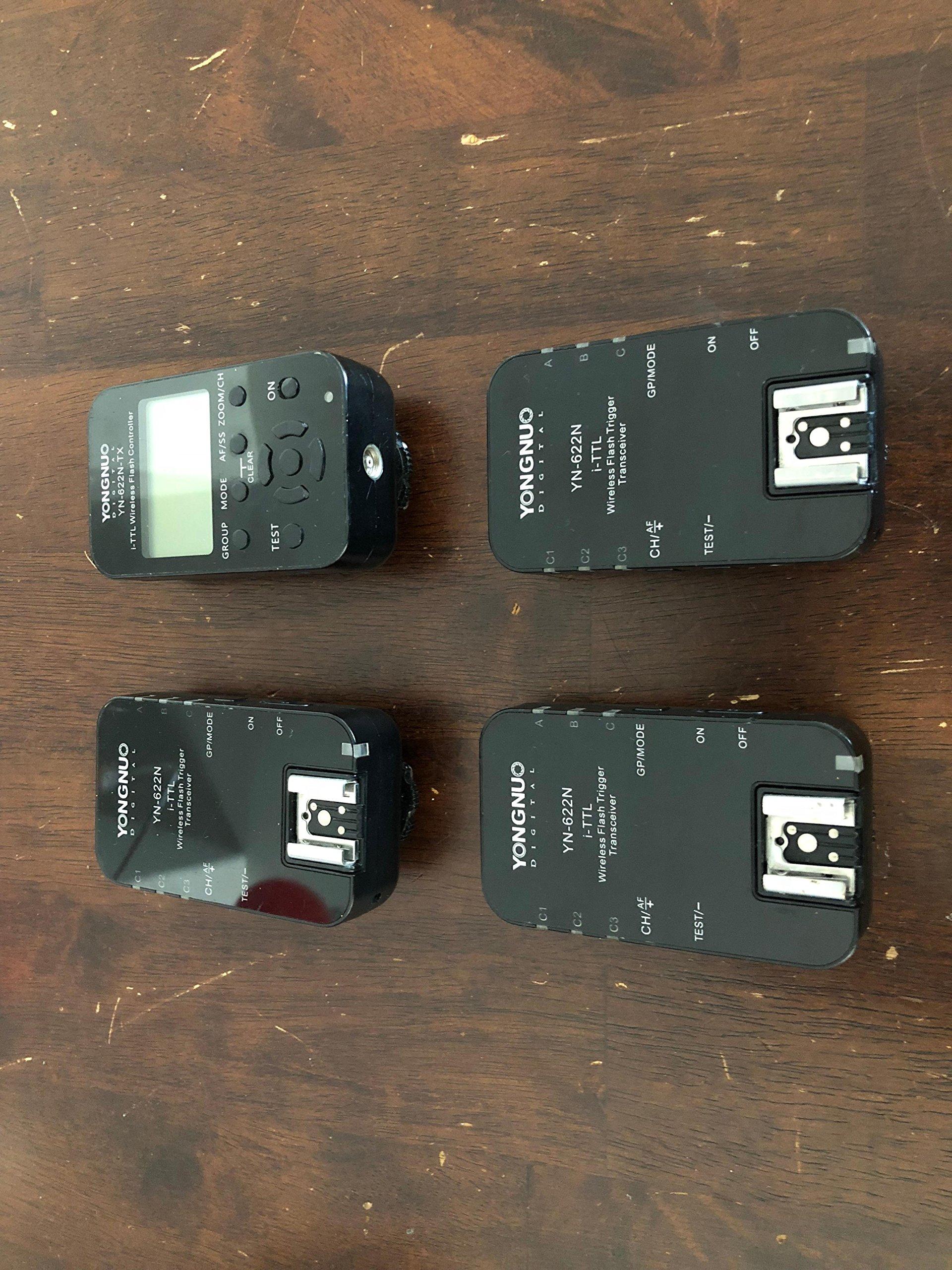YONGNUO YN-622N 1 x TX + 2 x RX i-TTL LCD wireless flash controller wireless flash trigger transceiver DSLR for Nikon D70, D70S, D80, D90, D200, D300S, D600, D700, D800, D3000, D3100, D3200, D5000, D5100, D5200, D5300, D7000, D7100 by Yongnuo