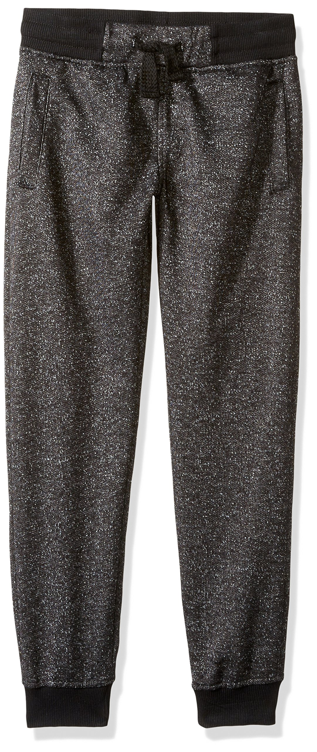 Southpole Big Boys' Jogger Pants in French Terry Basic Marled, Marled Black, Small