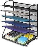 Amazon Price History for:SimpleHouseware 6 Trays Desktop Document Letter Tray Organizer, Black