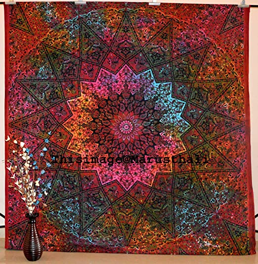 2 opinioni per Star Mandala Tapestry Queen Wall Hanging Gypsy Tapestries Hippie Bedspread