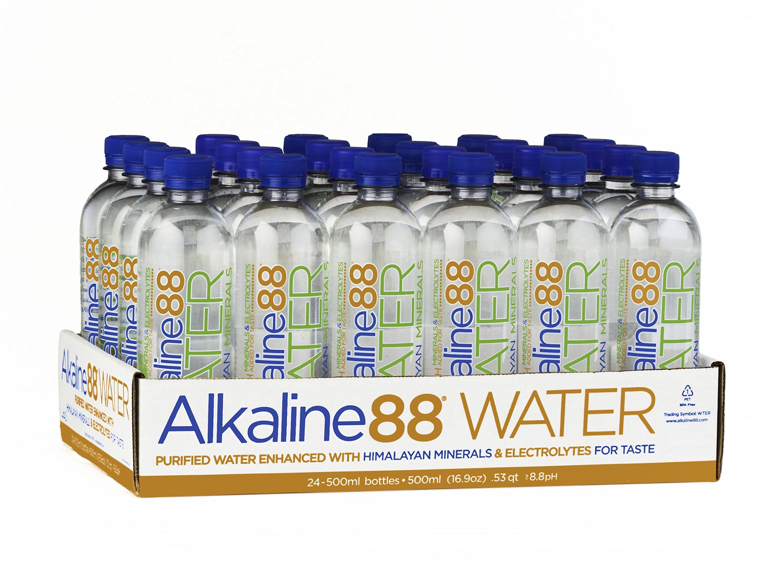 Alkaline88 Pack of 24, Bottled Water, 500 mL by Alkaline 88