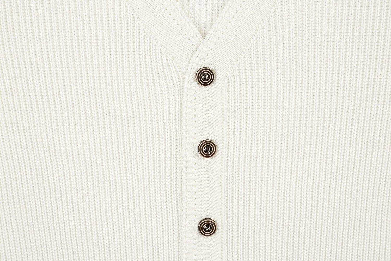 Lilax Little Boys Basic Long Sleeve V-Neck Classic Knit Cardigan Sweater