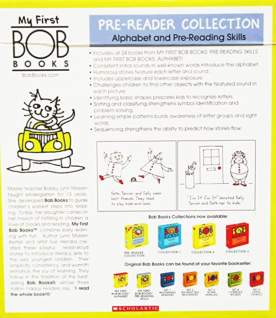 Amazon.com: My First BOB Books COLLECTION Box Set [Alphabet & Pre-reading Skills] [24 Books] (Age 2 and Up): Home & Kitchen
