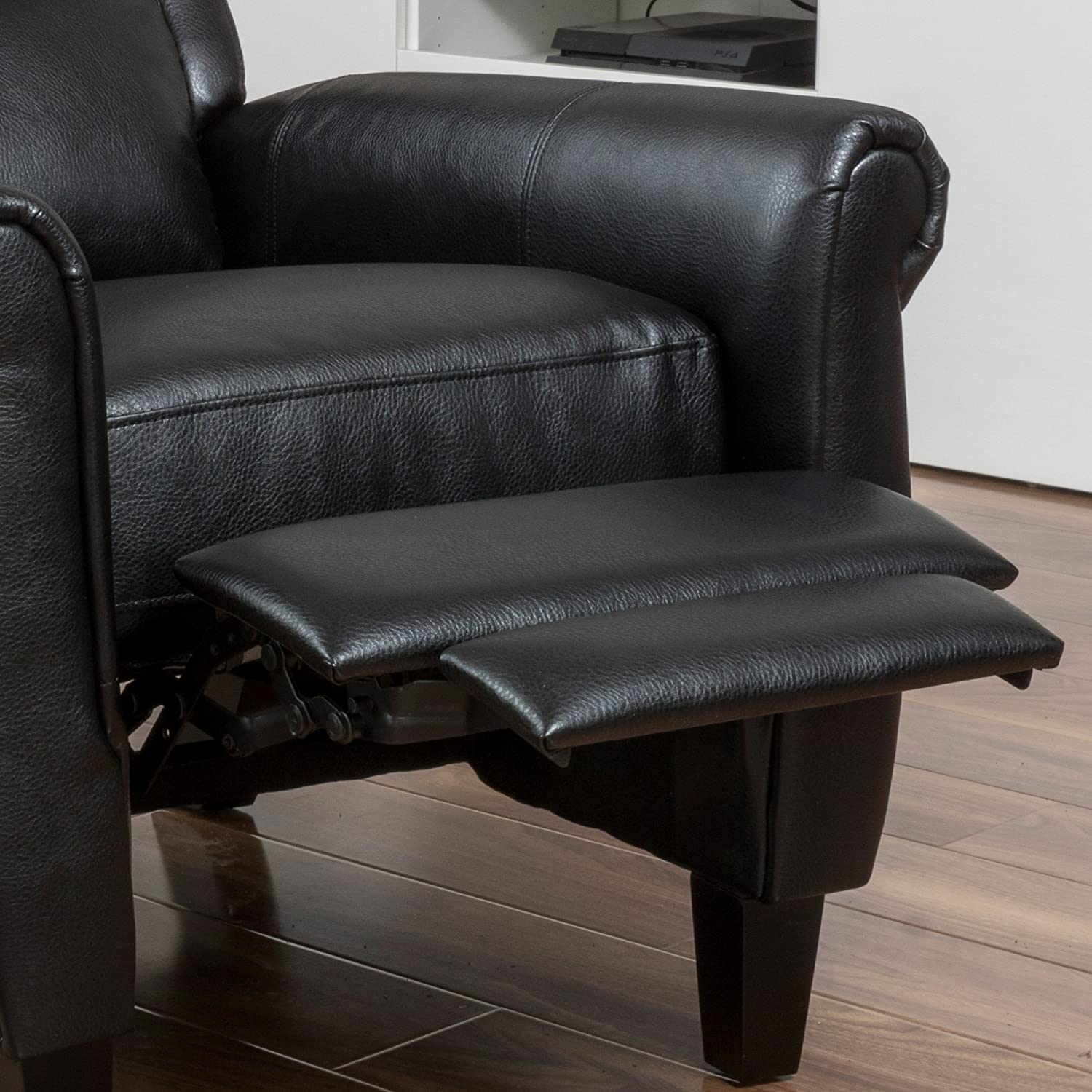 Amazon Lloyd Black Leather Recliner Club Chair Kitchen & Dining