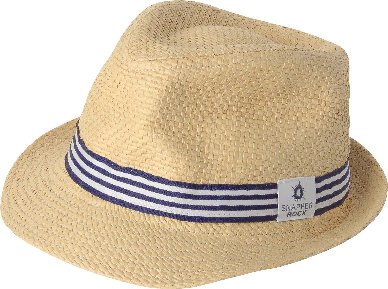 5aa2912d5 Snapper Rock Straw Summer Fedora Hat For Babies & Kids Boys & Girls ...