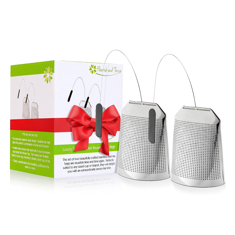 Amazon.com: Acero inoxidable Filtro de té Bolsas ...