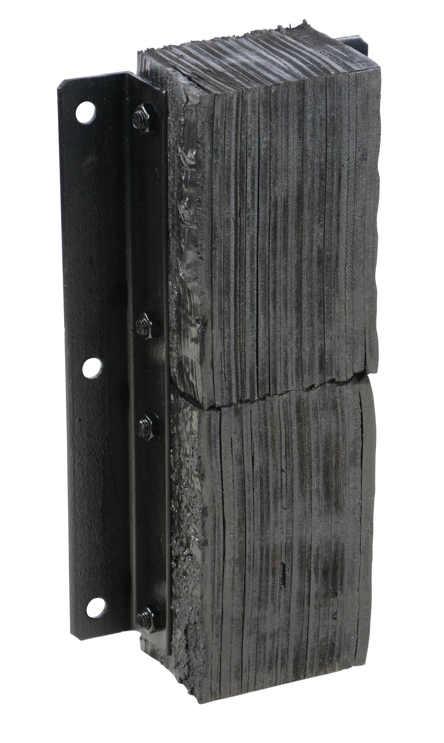 Vestil V-1124-6 Rubber Vertical Laminated Dock Bumper, 24'' Length, 11'' Width, 6'' Depth
