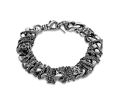 Bracelet for Women, Black, Silver, 2017, One Size Emanuele Bicocchi