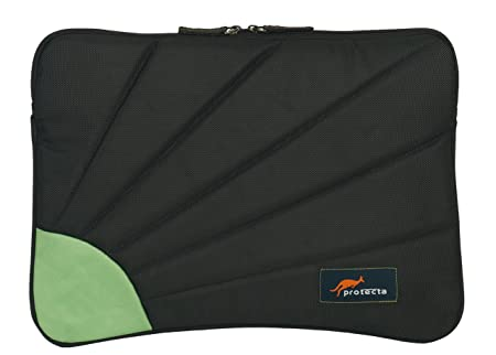 Protecta Rays 13.3-inch Laptop Sleeve (Black and Green) Laptop Sleeves & Slipcases at amazon