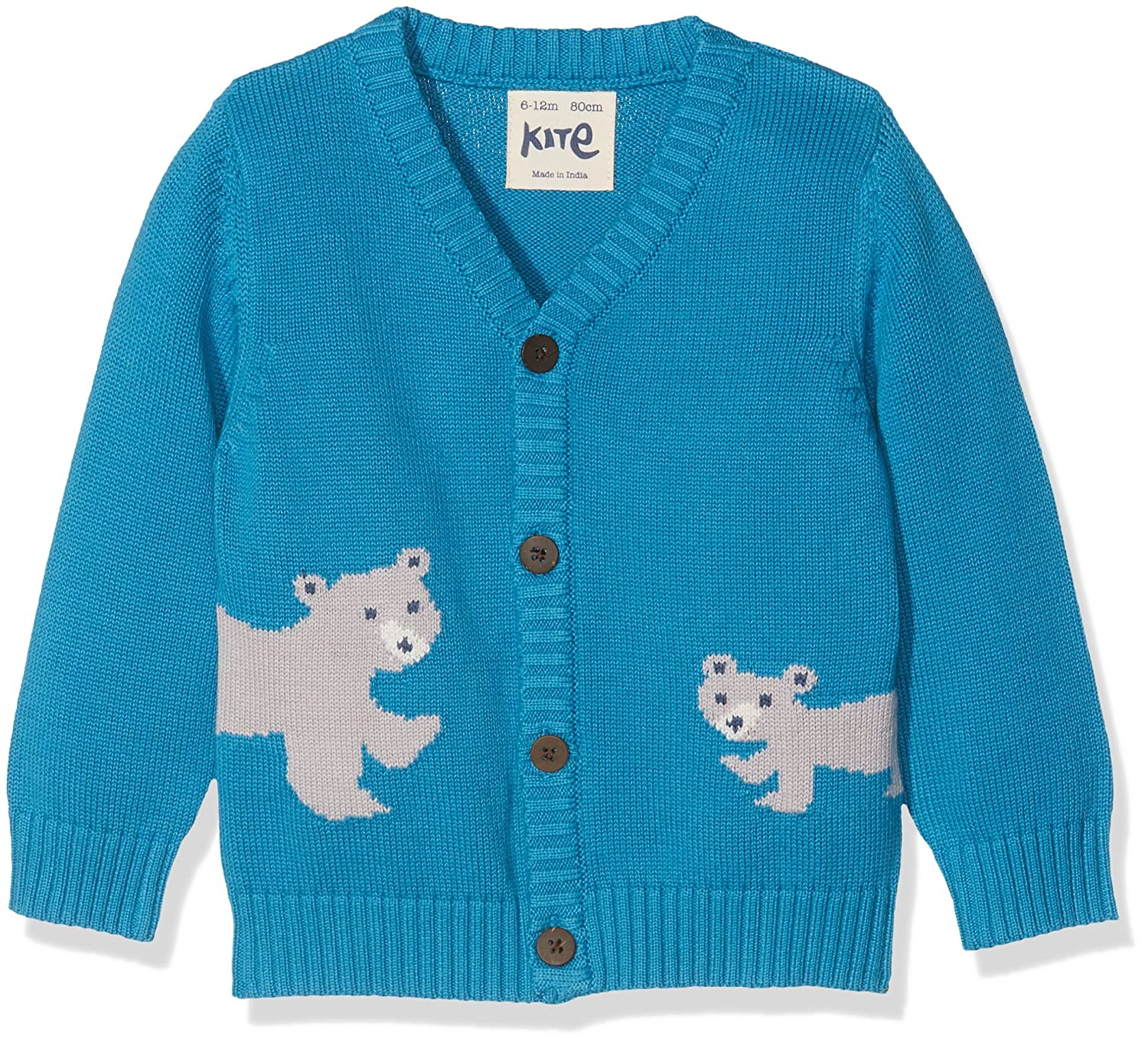 Kite Baby Boys' Polar Bear Cardi Cardigan Blue (Bluejay) 18-24 Months BB947