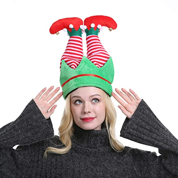 Funny Christmas Long Elf Hat Adults Novelty Party Holiday Headwear Xmas Ornament VALORCASA