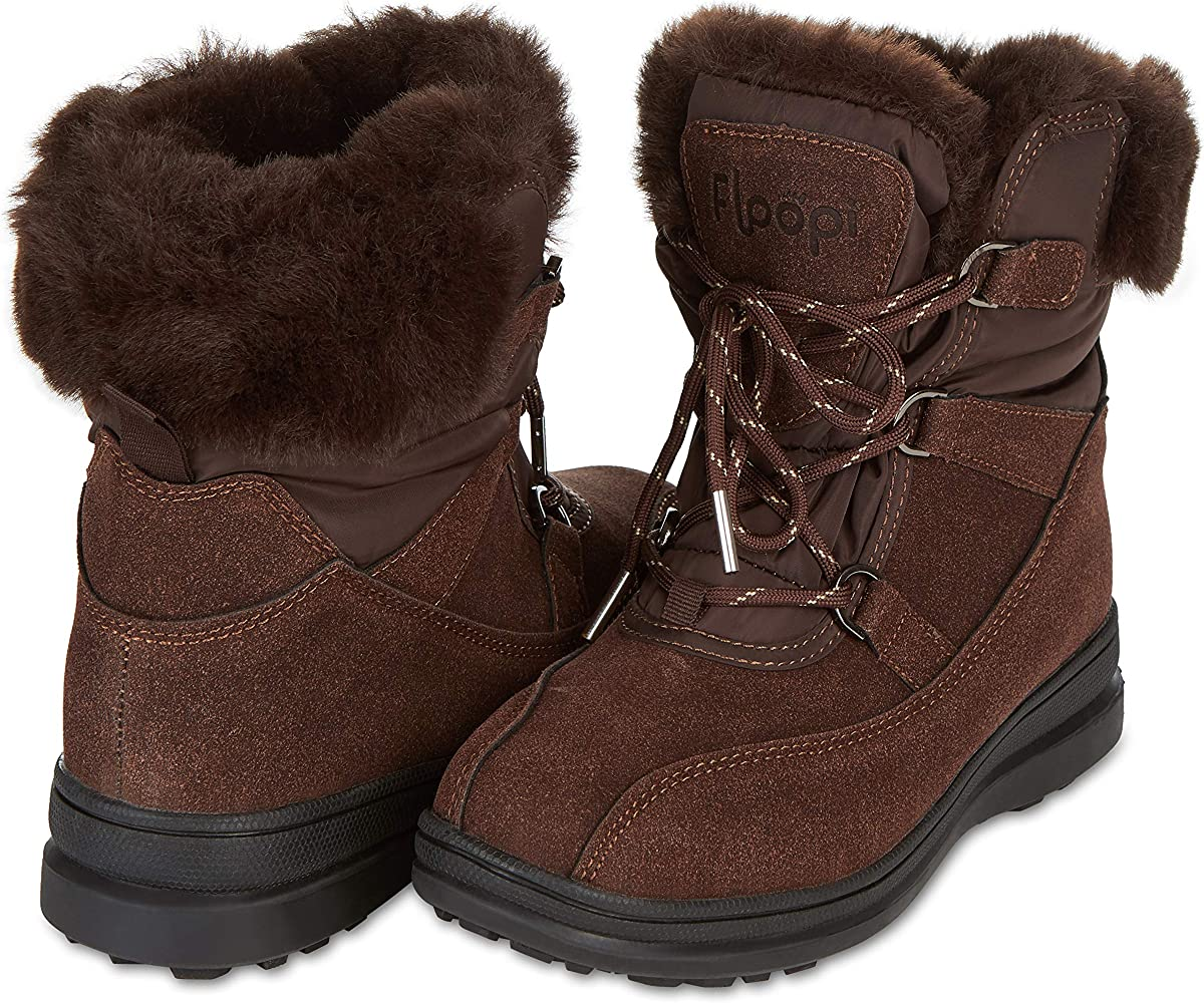 Susanny Snow Boots for Men Winter Warm Outdoor Lightweight Shoes Fur Lined Sneaker Booties