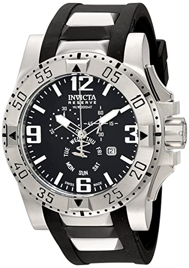 Invicta 18202 Excursion Reloj de Acero Inoxidable con Banda de PU Negro