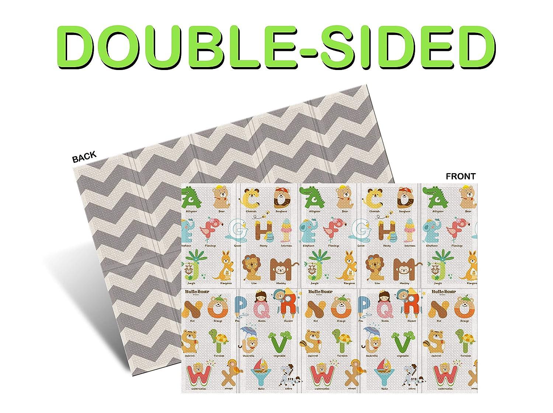 Parklon Folding Play Mat 78.7 x 55.1 x 0.4 in. Double-Sided