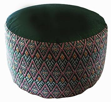 Amazon.com: Cojín de meditación zafu – Alto Asiento de trigo ...