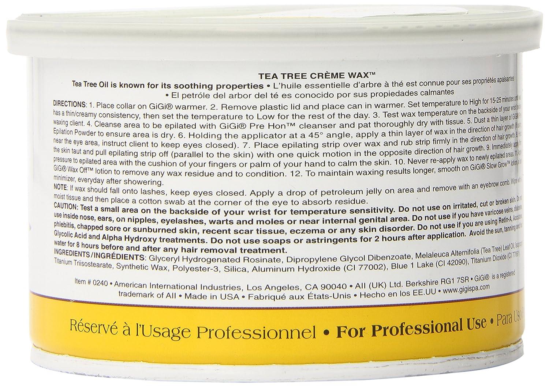 Gigi - Cera depilatoria con extracto del árbol de té (396 g): Amazon.es: Belleza